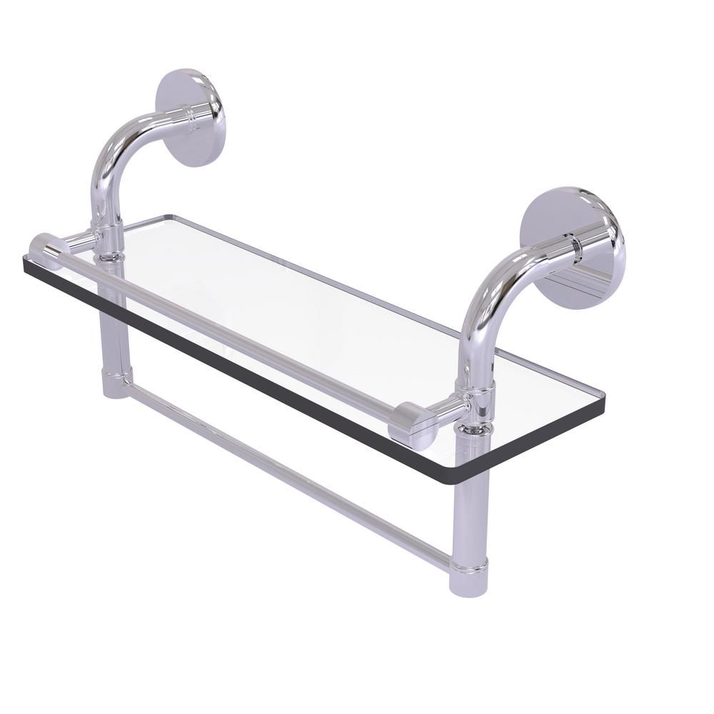 Allied Brass Remi Collection 16 In Gallery Glass Shelf With Towel Bar In Polished Chrome 013895199353 Bath Efficiently Use The Space In Your Bathroom With Th