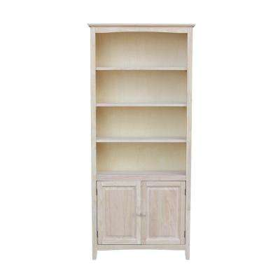Brooklyn Unfinished Shaker Bookcase with Doors