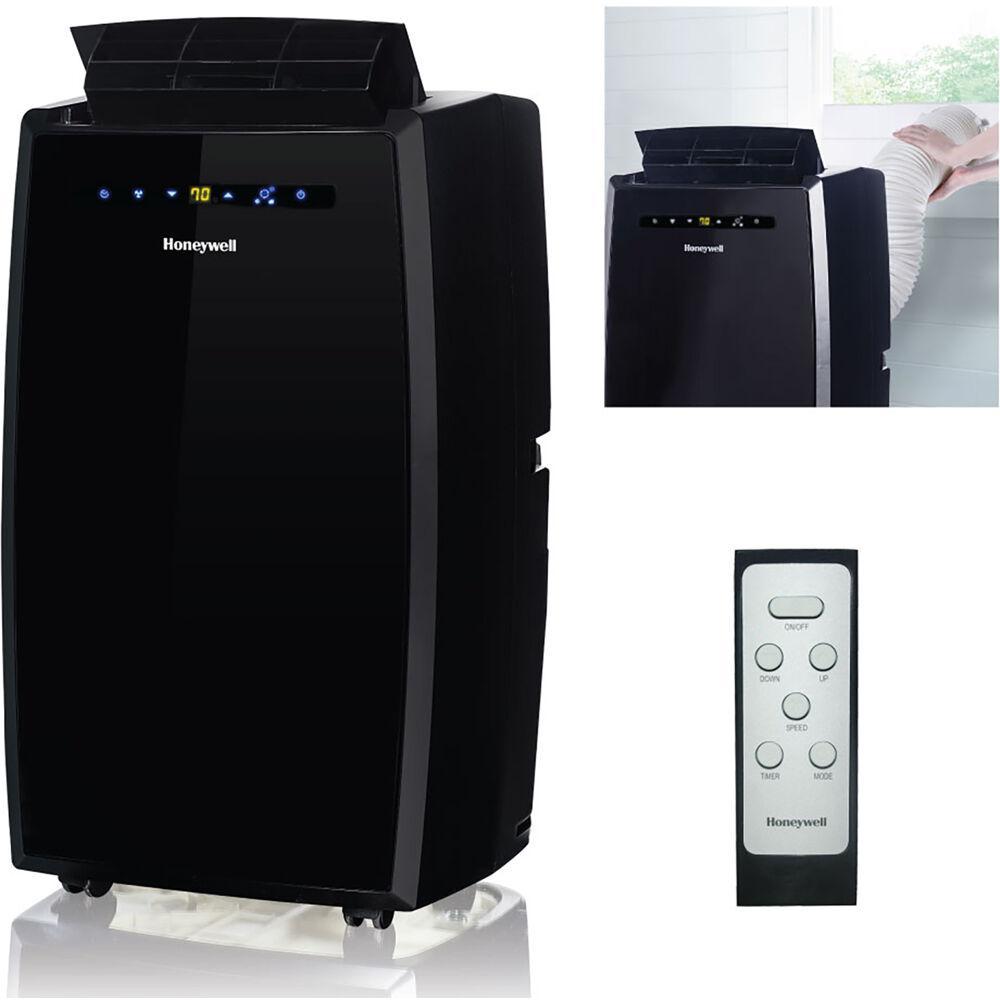 12,000 BTU, 115-Volt Portable Air Conditioner with Dehumidifier and Remote Control in Black