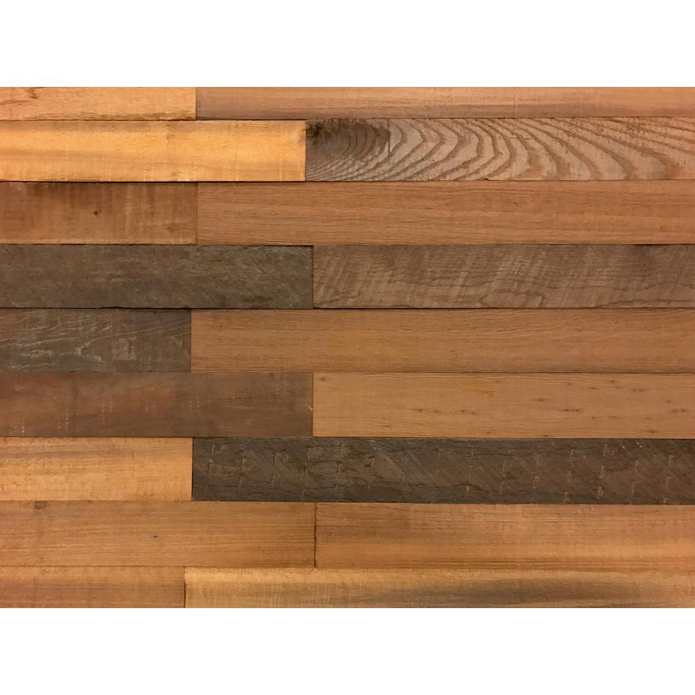 1/4 in. x 3 in. x 2 ft. Brown Reclaimed Smart