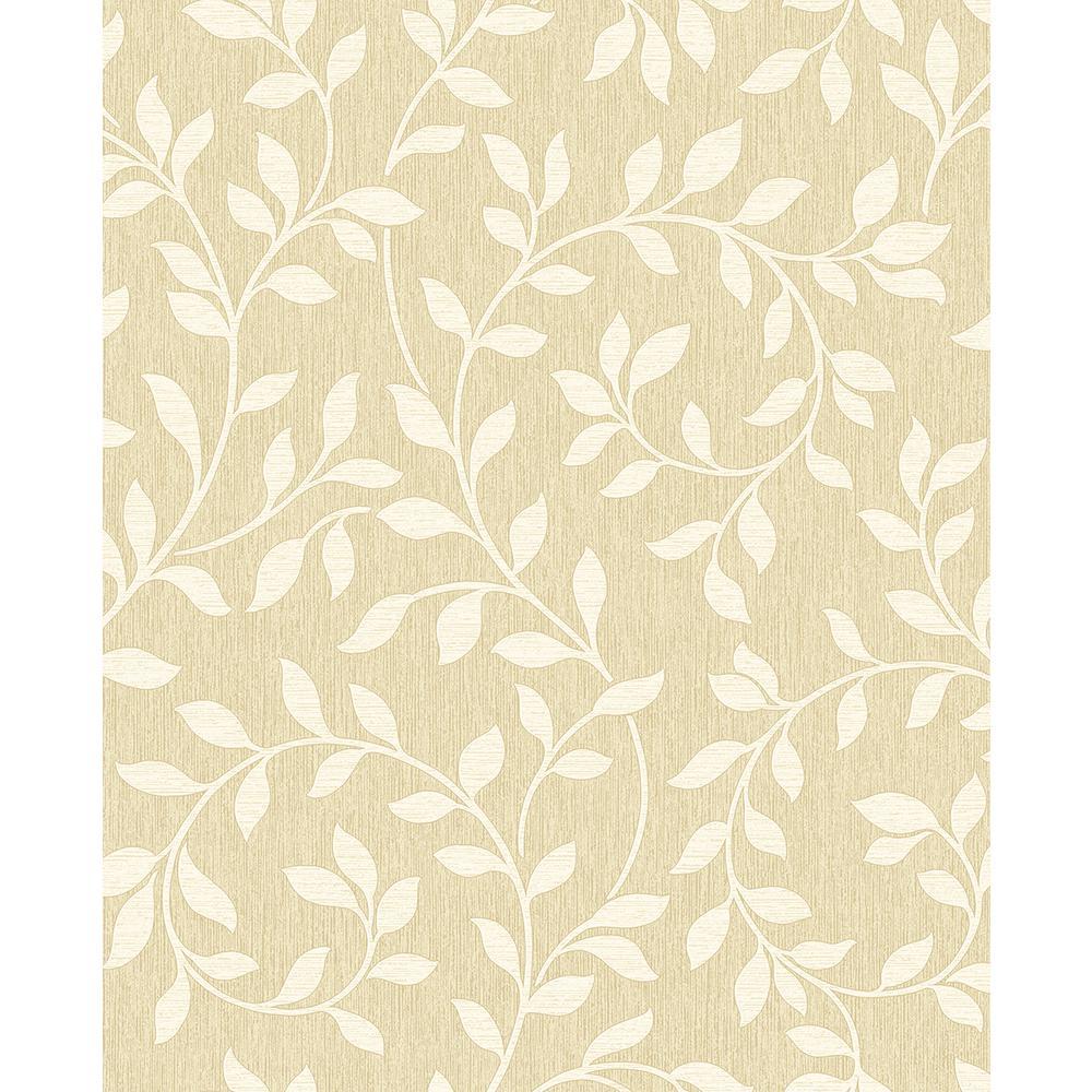 56.4 sq. ft. Torrey Wheat Leaf Trail Wallpaper