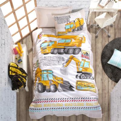 Building White Duvet Cover Set, Yellow, Twin Size Duvet Cover, 1-Duvet Cover, 1-Fitted Sheet and 2-Pillowcases