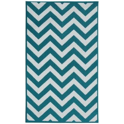 Chevron Teal Area Rugs The