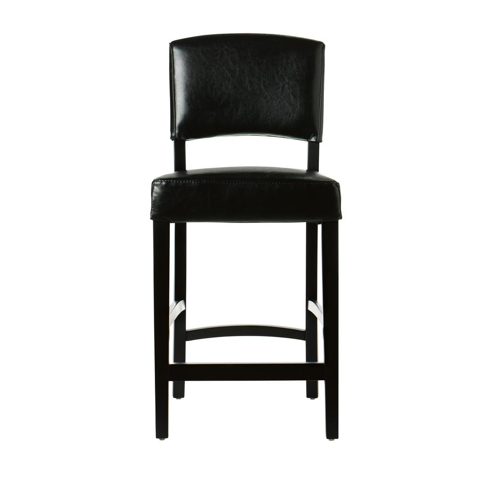 Home Decorators Collection 24 In Black Cushioned Counter Stool With