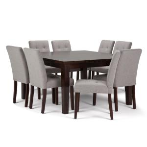 Fine Simpli Home Walden 9 Piece Dining Set With 8 Upholstered Home Remodeling Inspirations Cosmcuboardxyz