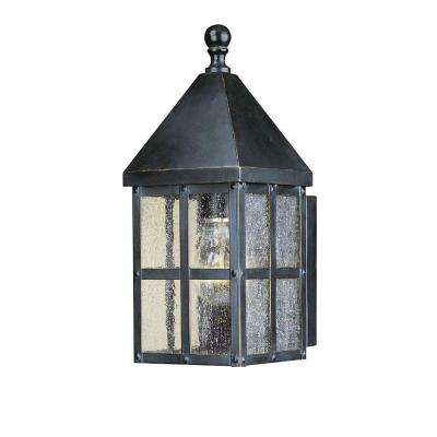 Holland 1 Light Mediterranean Bronze Outdoor Small Wall Lantern