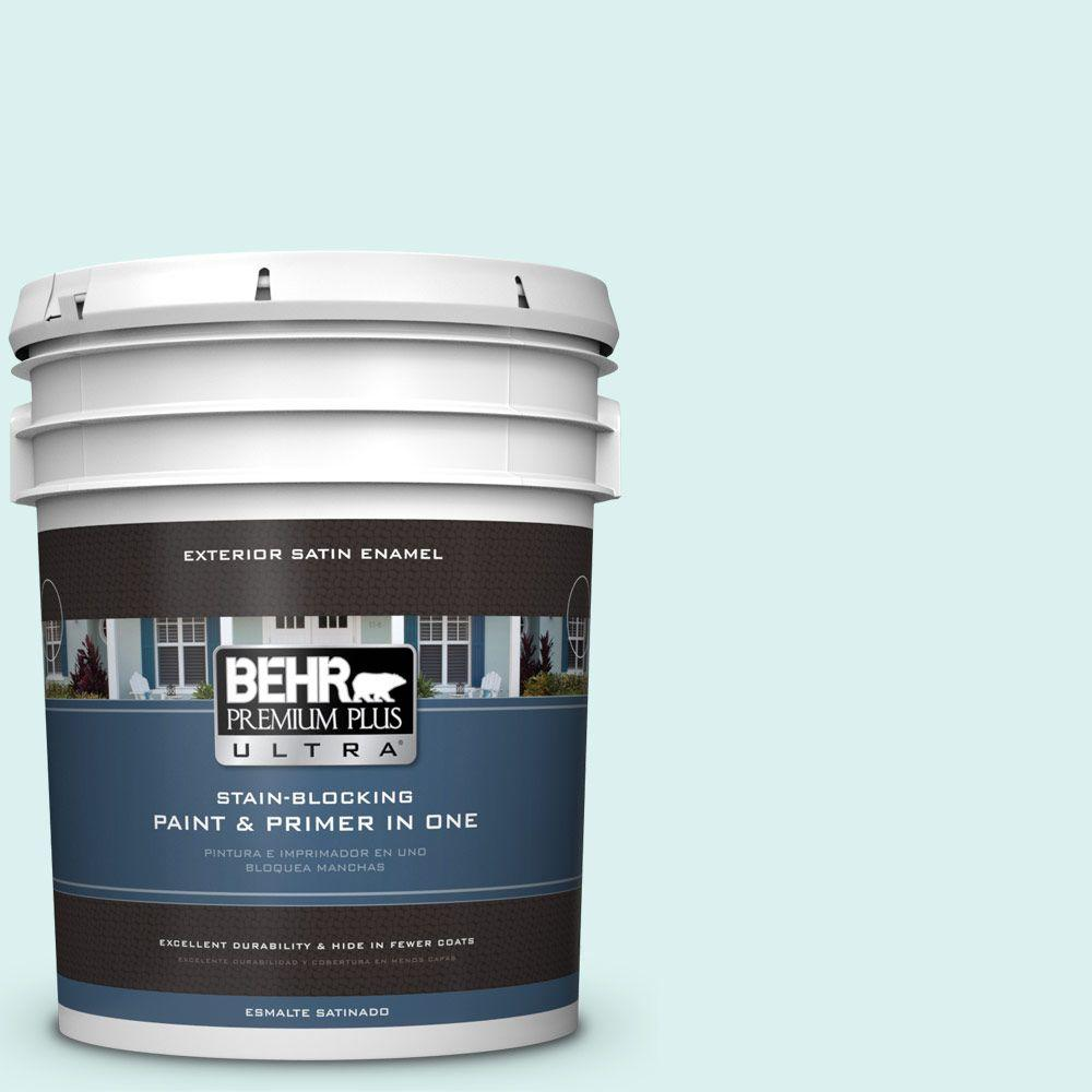 BEHR Premium Plus Ultra 5-gal. #500C-2 Aqua Pura Satin Enamel Exterior Paint
