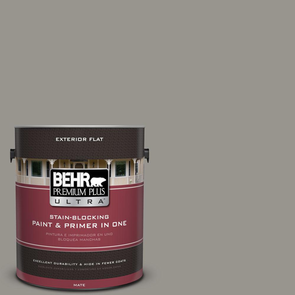 N360 4 Battleship Gray Flat Exterior Paint And Primer In One 485401 The Home Depot