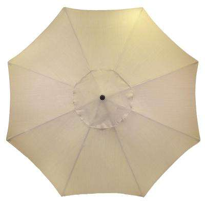 11 ft. Aluminum Patio Umbrella in Oatmeal