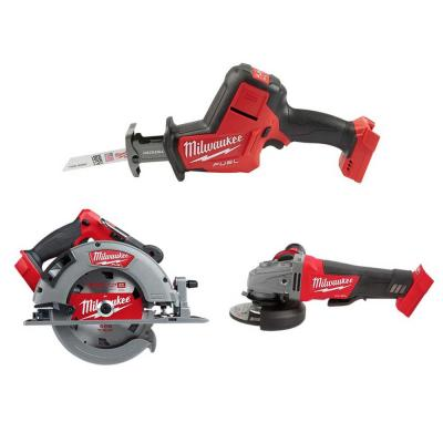 M18 FUEL 18-Volt Lithium-Ion Brushless Cordless HACKZALL Reciprocating Saw/Circular Saw/Grinder Combo Kit (3-Tool)