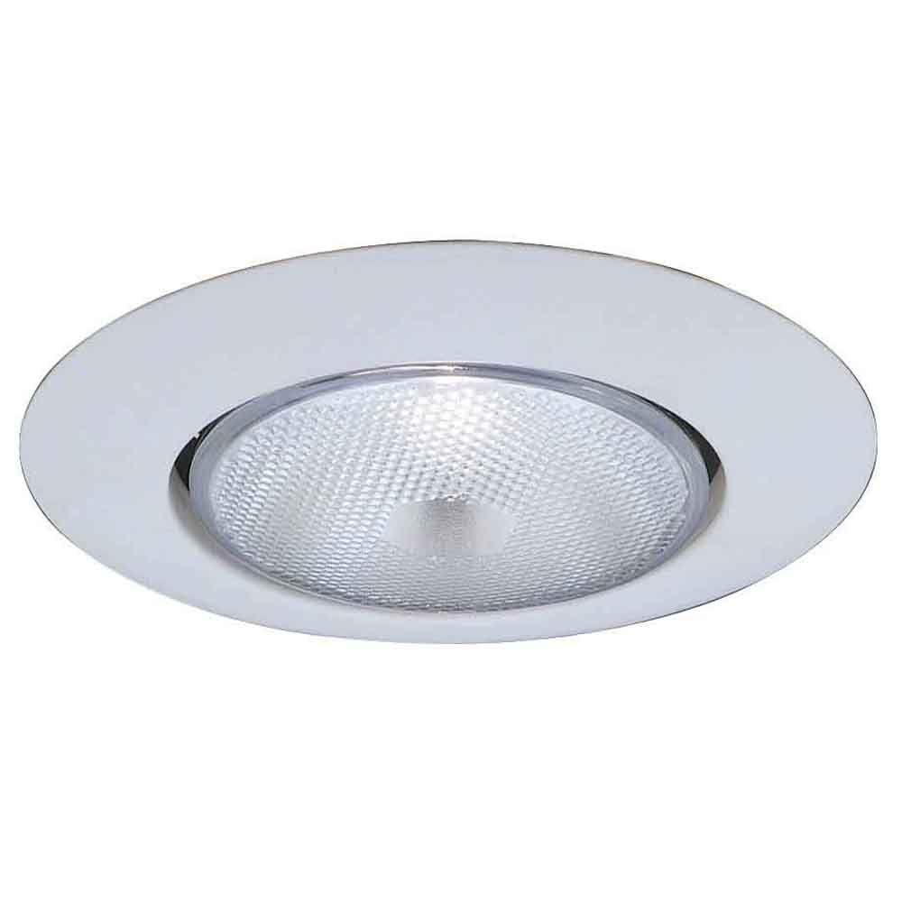 Commercial Electric 6 in. R40 White Recessed Open Trim (12-Pack)