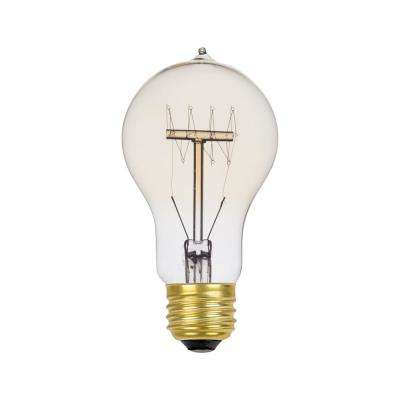 60-Watt Incandescent A19 Vintage Quad Loop Medium Base Light Bulb