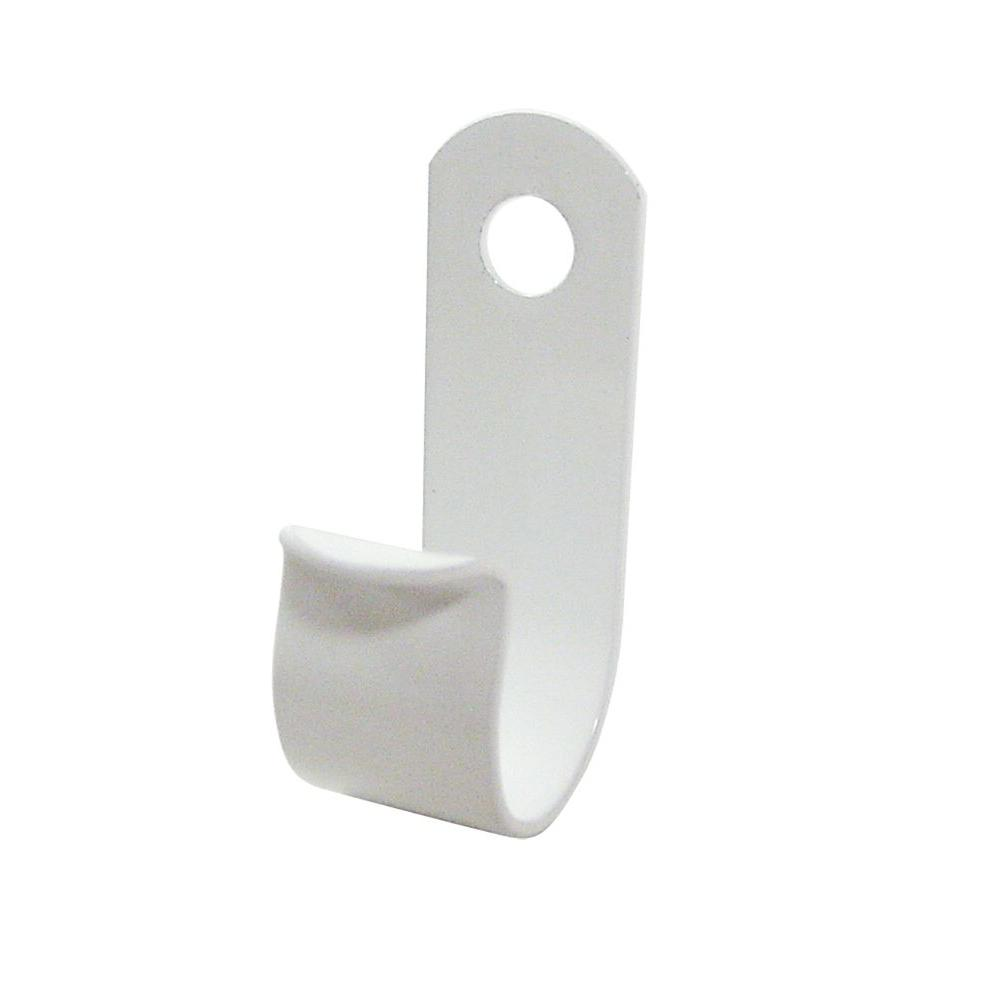 1/4 in. Small EZ-Cable Clips - White Aluminum (15-Pack)
