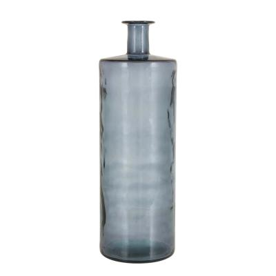 Coastal 30 in. Iridescent Gray Glass Spouted Vase