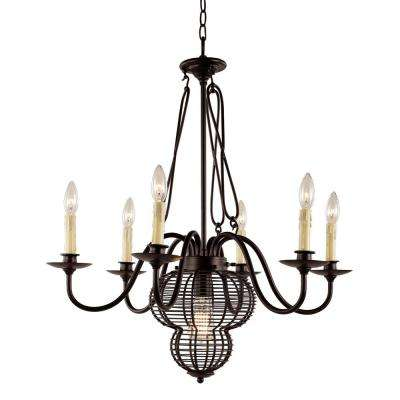 7-Light Black Chandelier