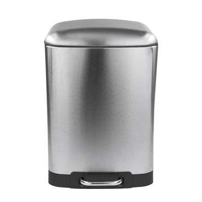 7.92 Gal. Stainless Steel Soft Close Trash Can
