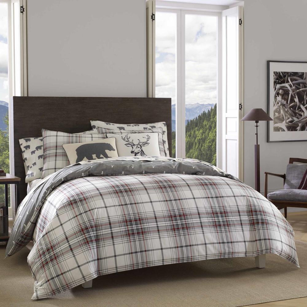 Alder 3-Piece Charcoal King Comforter Set