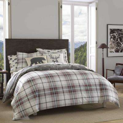 Alder 2-Piece Charcoal Twin Duvet Cover Set