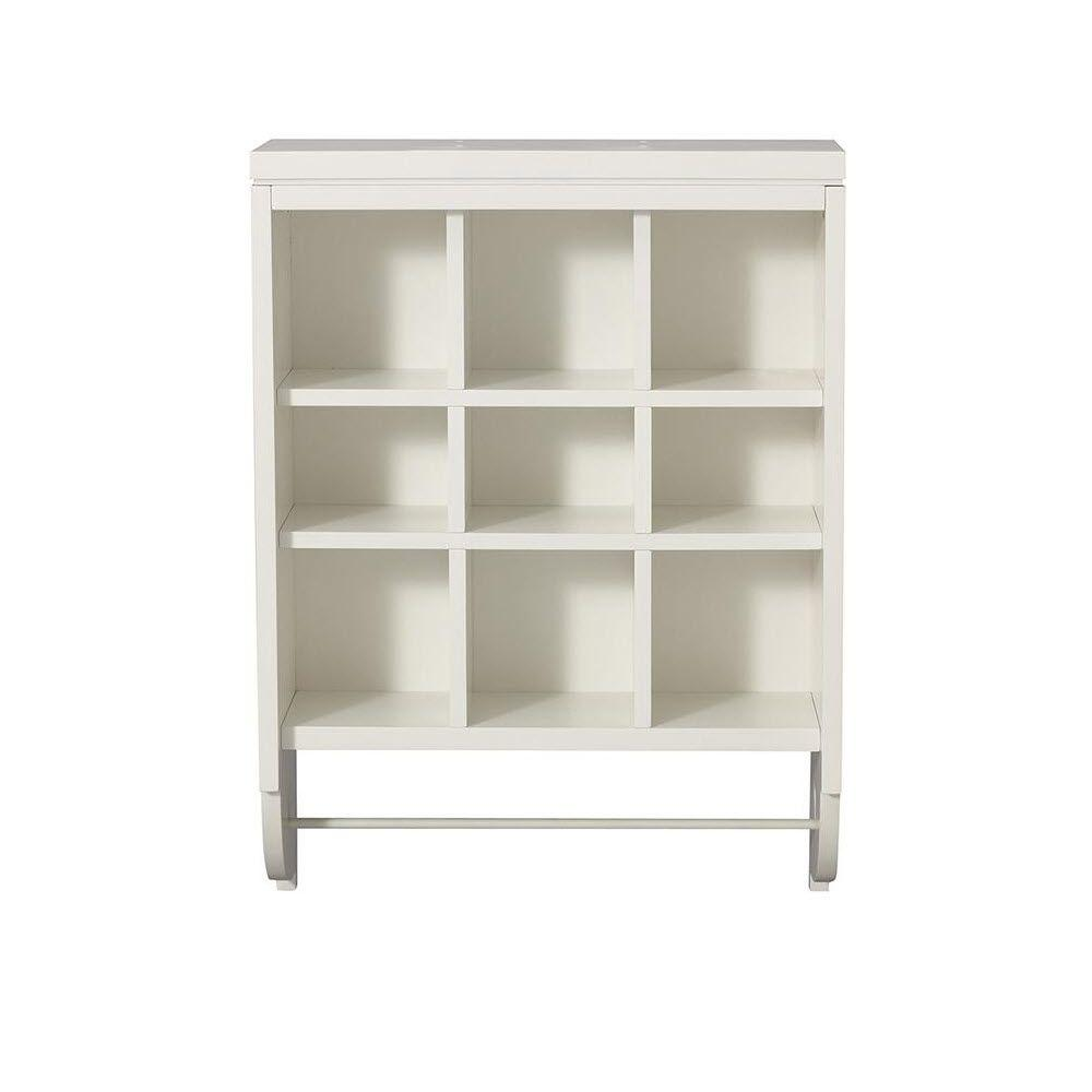Martha Stewart Living Craft Space 28 in. x 21 in. Picket Fence 9-Cubbies Open Wall Mounted Storage