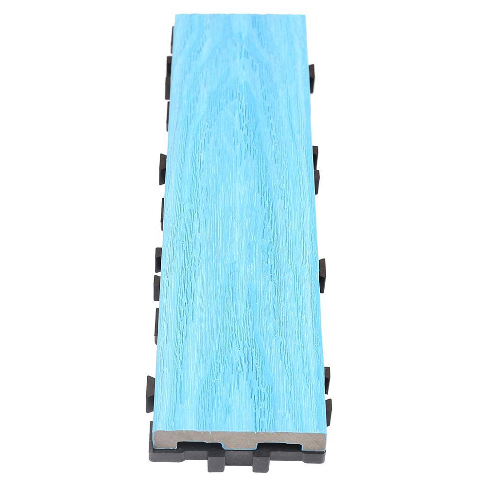 UltraShield Naturale 3 in. x 1 ft. Quick Composite Single Slat Deck Tile in Caribbean Blue (4-Pieces per Box)
