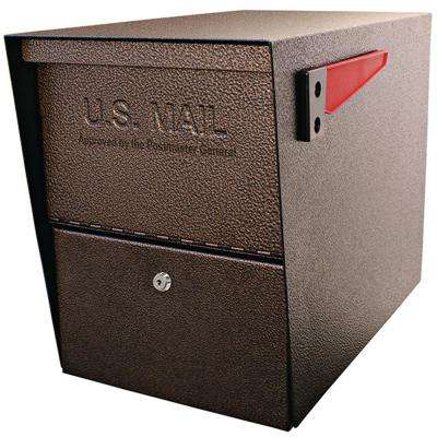 Package Master Locking Post-Mount Mailbox with High Security Patented Lock, Bronze
