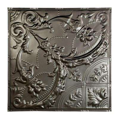 Saginaw 2 ft. x 2 ft. Nail-up Tin Ceiling Tile in Argento