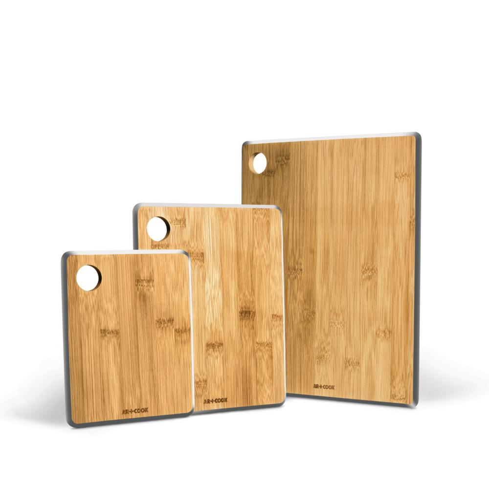 3 Piece Bamboo Cutting and Serving Boards