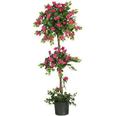 5 ft. Mini Bougainvillea Topiary Silk Tree
