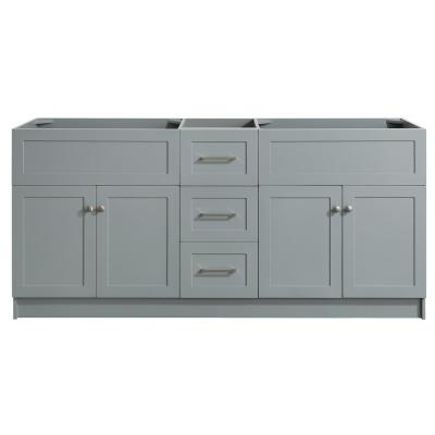Hamlet 72 in. W x 21.5 in. D x 33.5 in. H Bath Vanity Cabinet Only in Gray