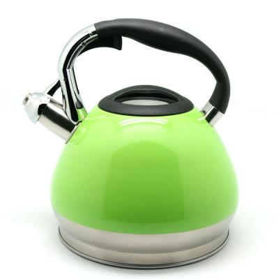 Triumph 3.5 qt. Stainless Steel Whistling Tea Kettle with Aluminum Capsulated Bottom for Even Heat Distribution