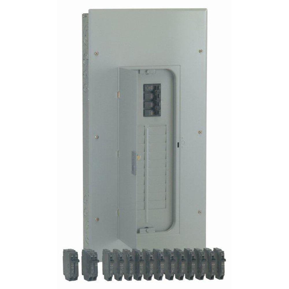 PowerMark Gold 200 Amp 20-Space 40-Circuit Indoor Main Breaker Value Kit Includes Select Circuit Breaker