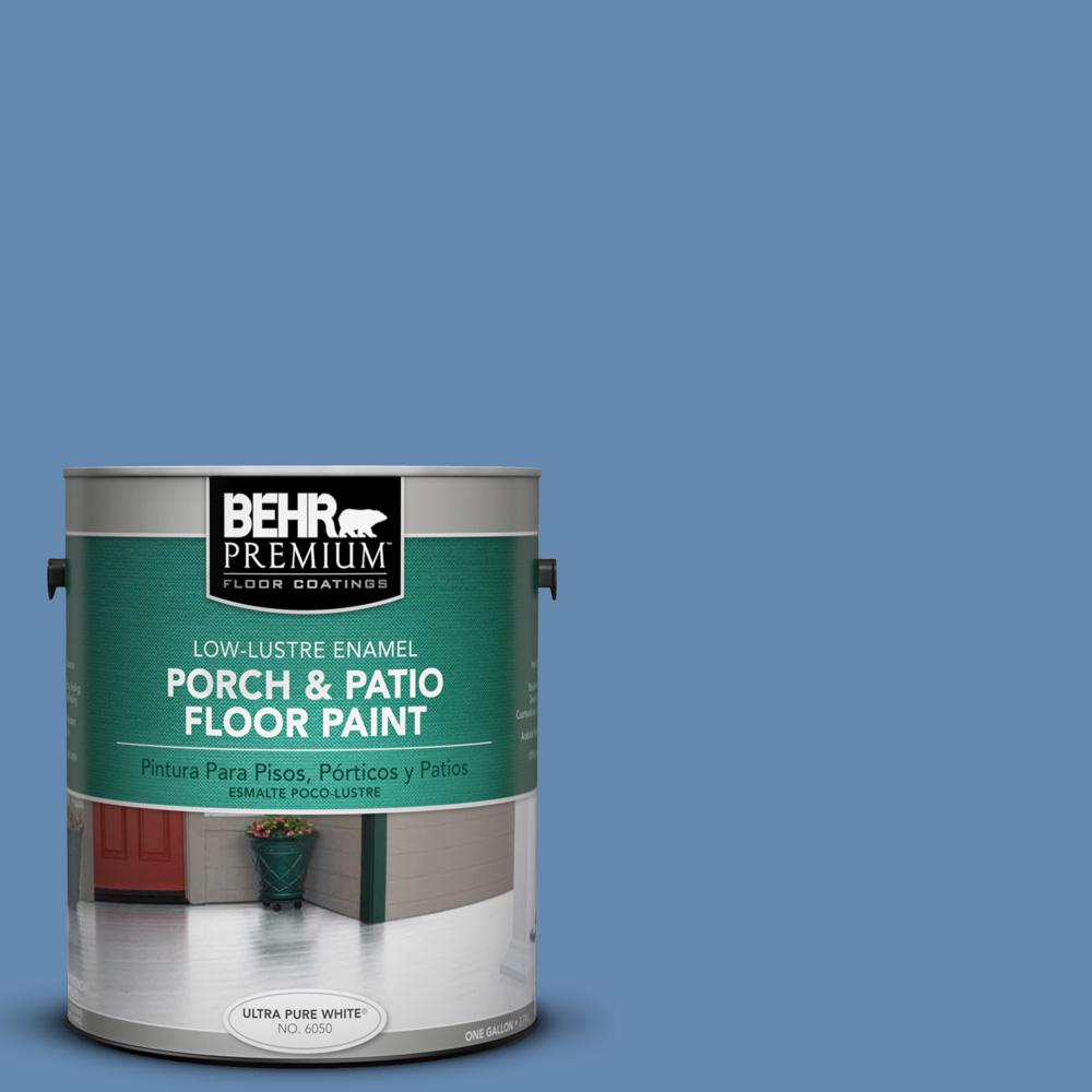1 gal. #M530-5 Cowgirl Blue Low-Lustre Porch and Patio Floor Paint