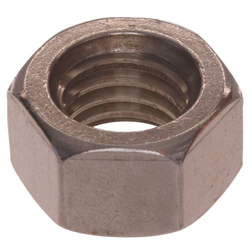 7/16 - 14 in. Stainless Steel Hex Nut (8-Pack)