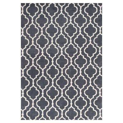 Moroccan Black/Ivory 2 ft. 6 in. x 4 ft. 2 in. Area Rug