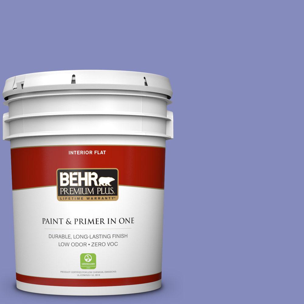 5 gal. #620B-5 Pristine Petal Zero VOC Flat Interior Paint