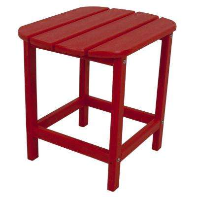 Sunset Red Patio Side Table