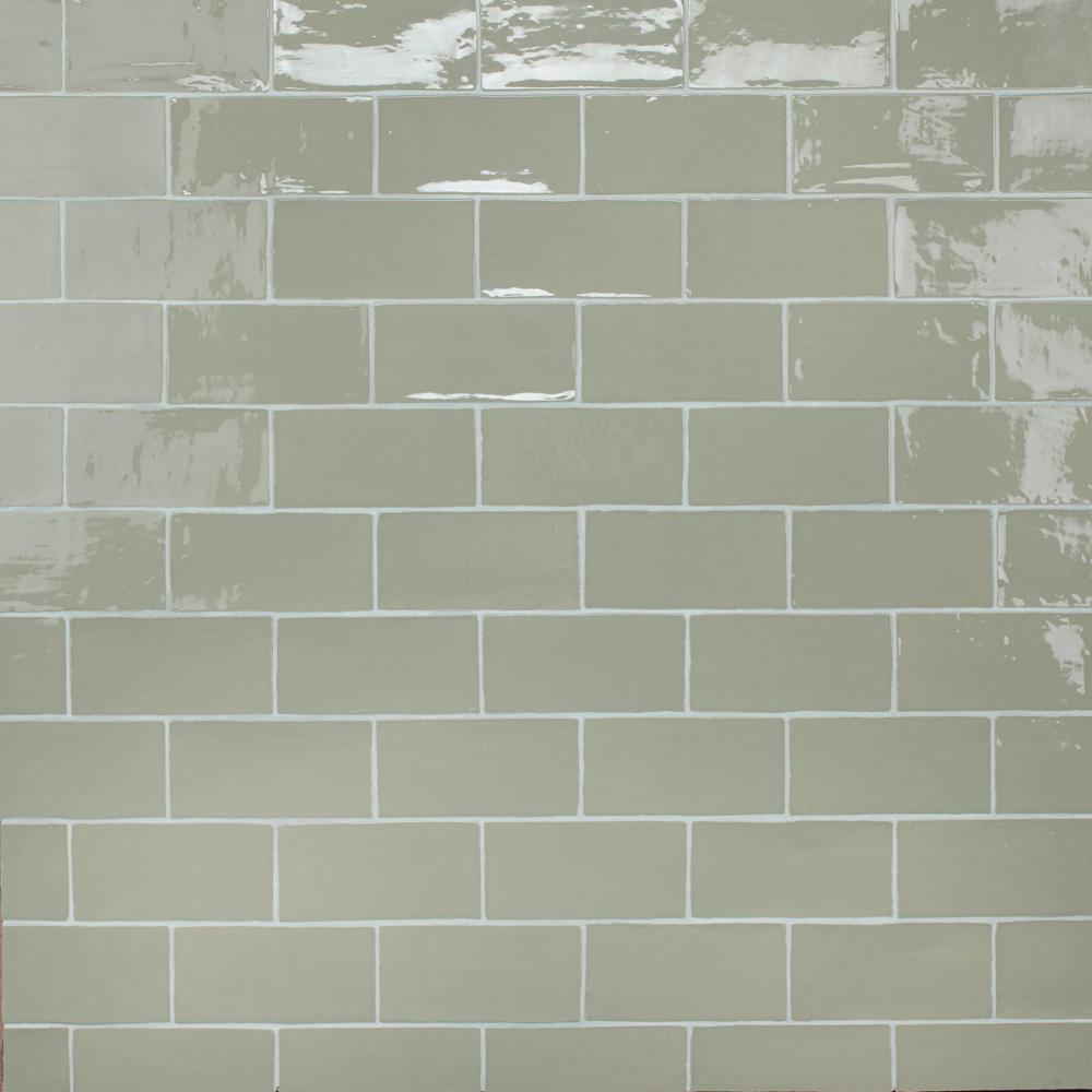 Merola Tile Chester Sage 3 In X 6 In Ceramic Wall Subway Tile 6 02 Sq Ft Case Wnu36csg The Home Depot