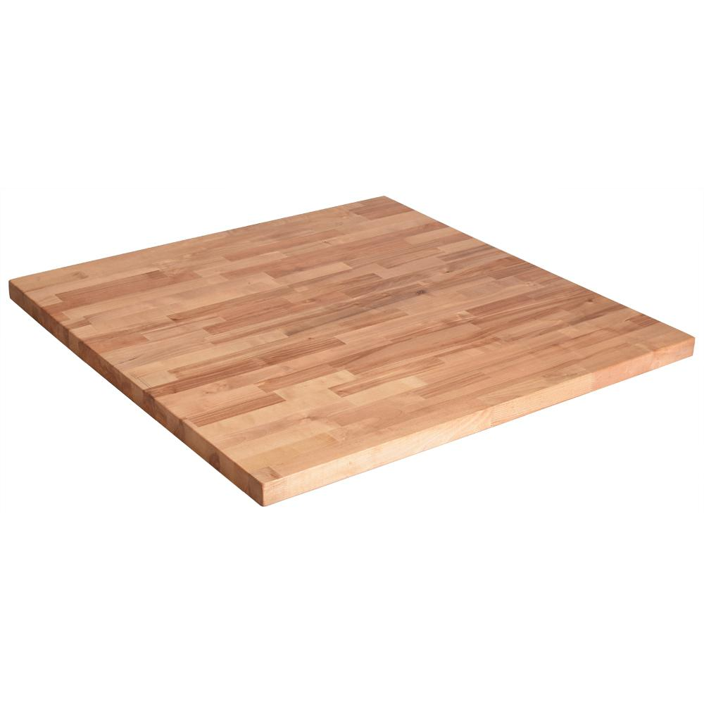 36in.x 36in.x1.5in Wood Butcher Block Countertop In Unfinished Birch