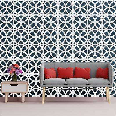 3/8 in. x 15-3/4 in. x 15-3/4 in. Medium Daventry White Architectural Grade PVC Decorative Wall Panels