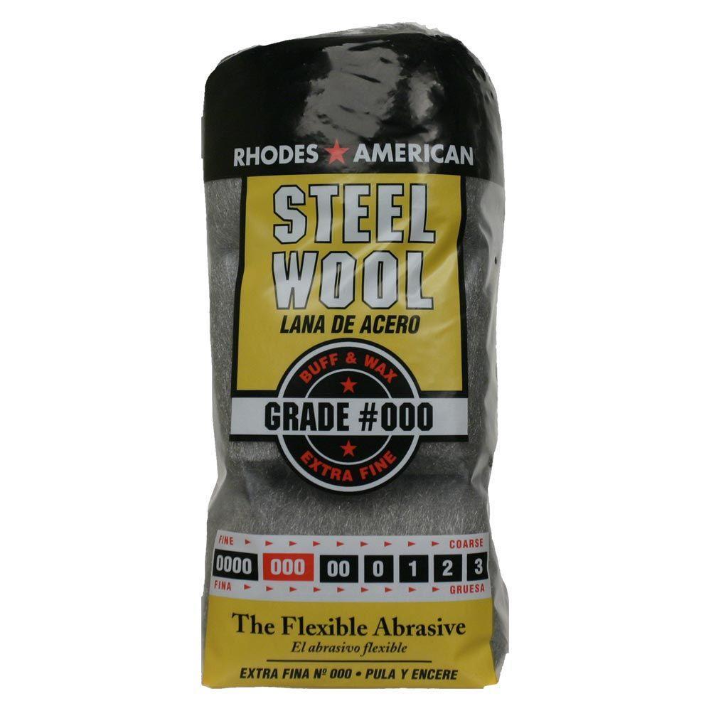 Homax #3/0 12 Pad Steel Wool, Extra Fine Grade