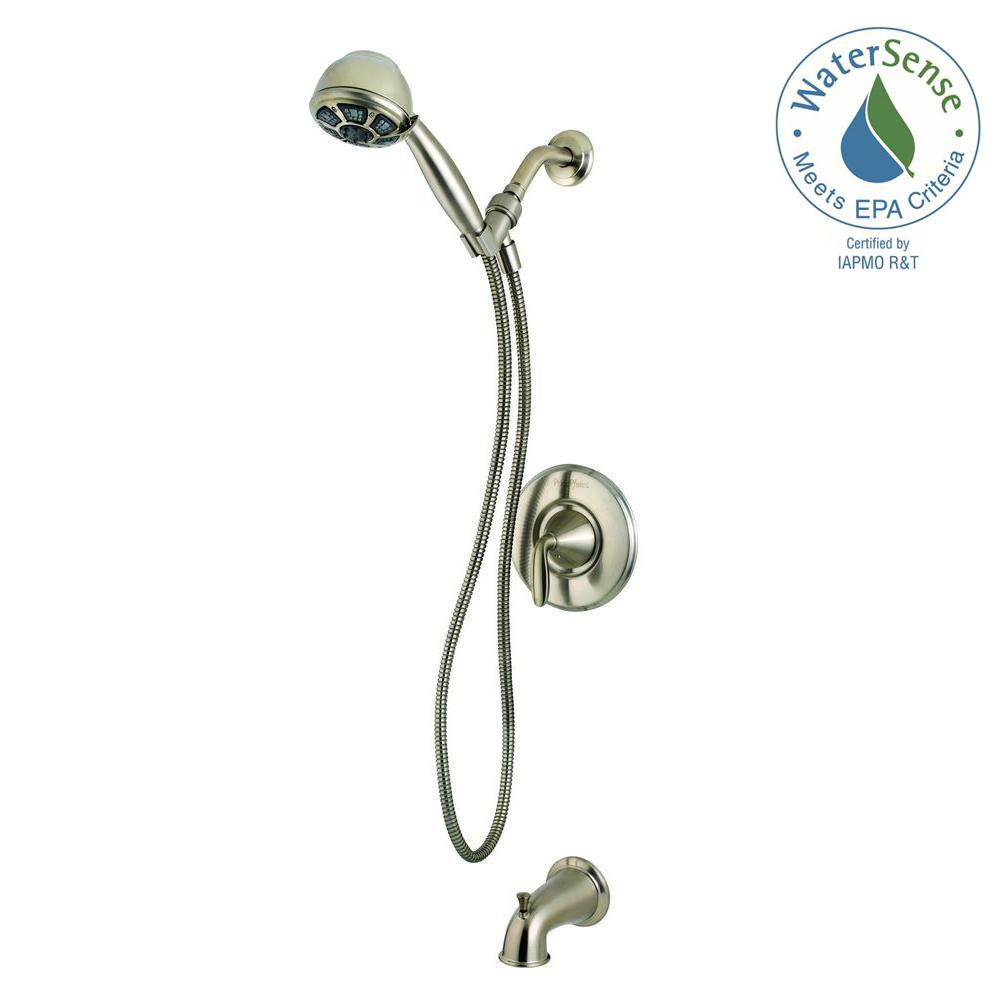 Pasadena Single-Handle 3-Spray Tub and Shower Faucet with Hand Shower in