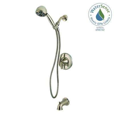 Pasadena Single-Handle 3-Spray Tub and Shower Faucet with Hand Shower in Brushed Nickel