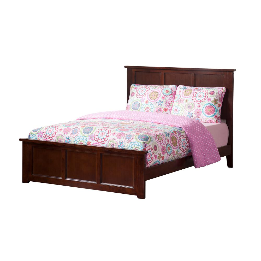 Atlantic Furniture Madison Walnut Full Traditional Bed With Matching