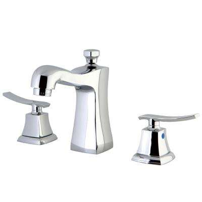 Euro 8 in. Widespread 2-Handle High-Arc Bathroom Faucet in Chrome