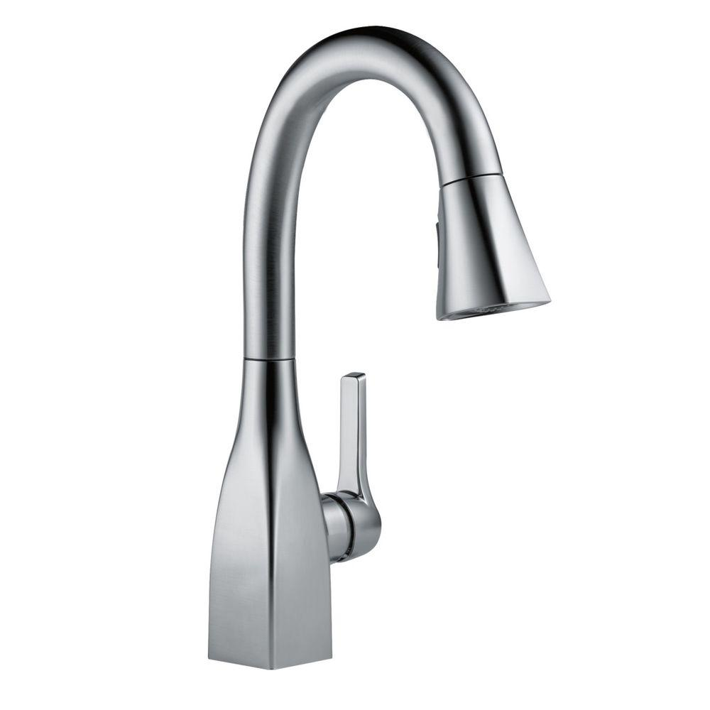 Mateo Single Handle Prep Pull Down Sprayer Kitchen Faucet In Arctic  Stainless