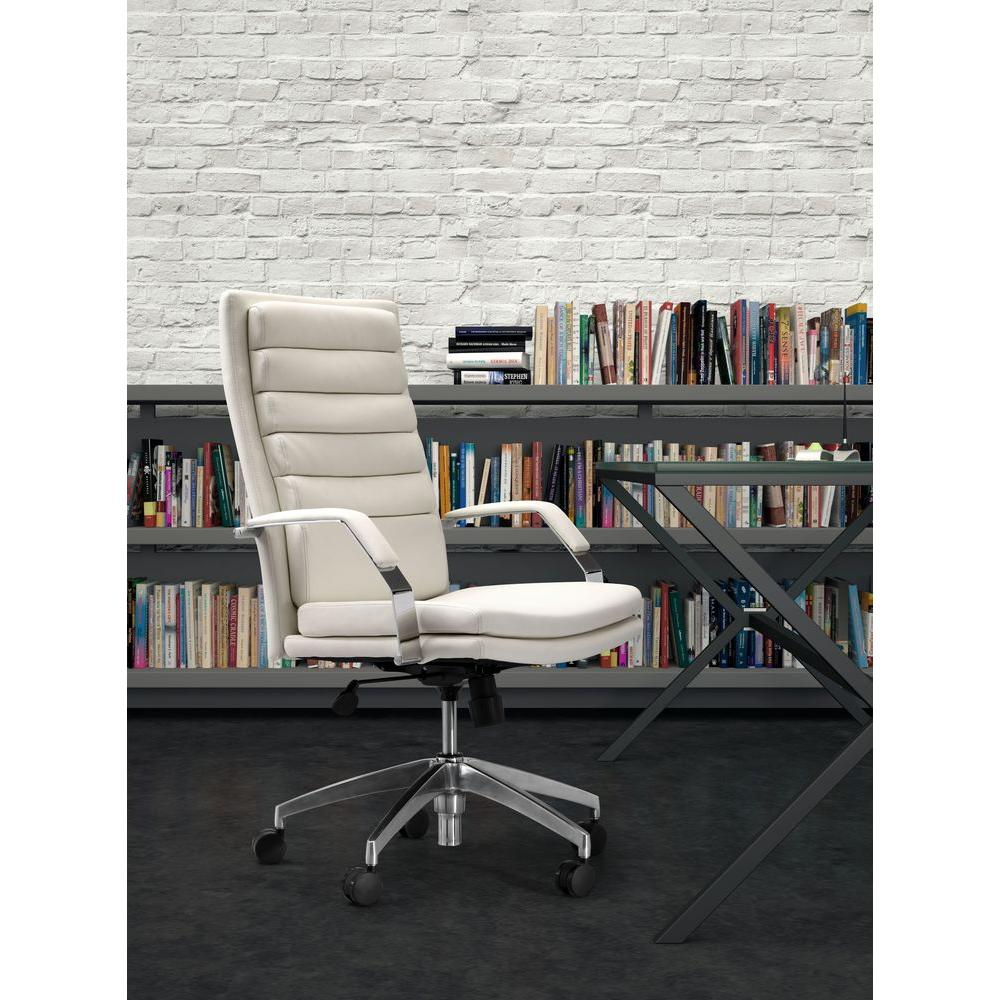 ZUO Director Comfort White Office Chair-205327 - The Home Depot
