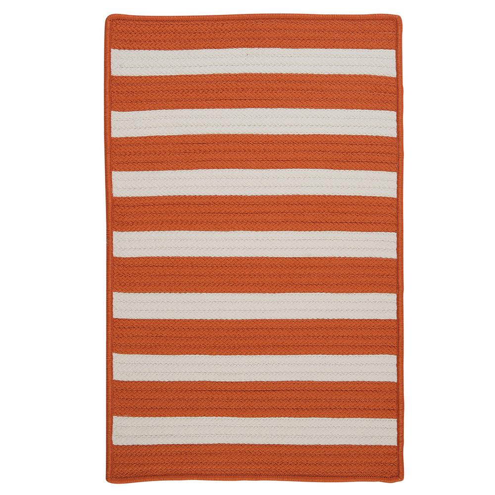Home Decorators Collection Baxter Tangerine 7 Ft X 9 Ft Indoor Outdoor Braided Area Rug
