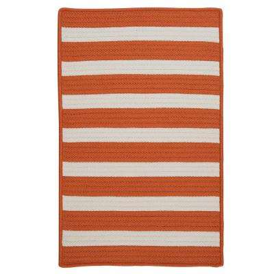 Baxter Tangerine 10 ft. x 13 ft. Indoor/Outdoor Braided Area Rug