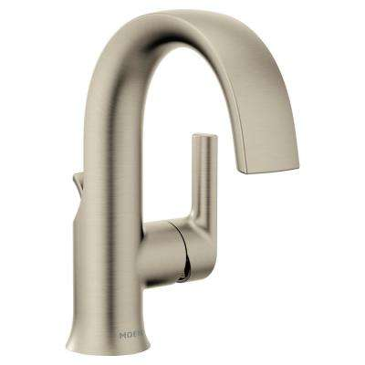 Doux Single Hole 1-Handle Bathroom Faucet in Brushed Nickel