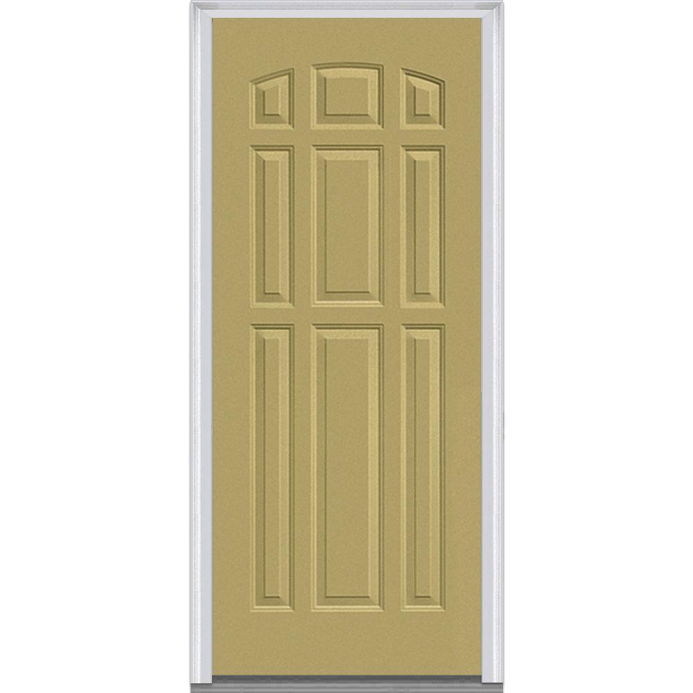 Left Handinswing Exterior Prehung 9 Panel Doors Without Glass